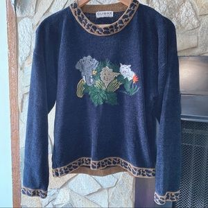 Climax by Sacha Vintage Safari Animal Sweater